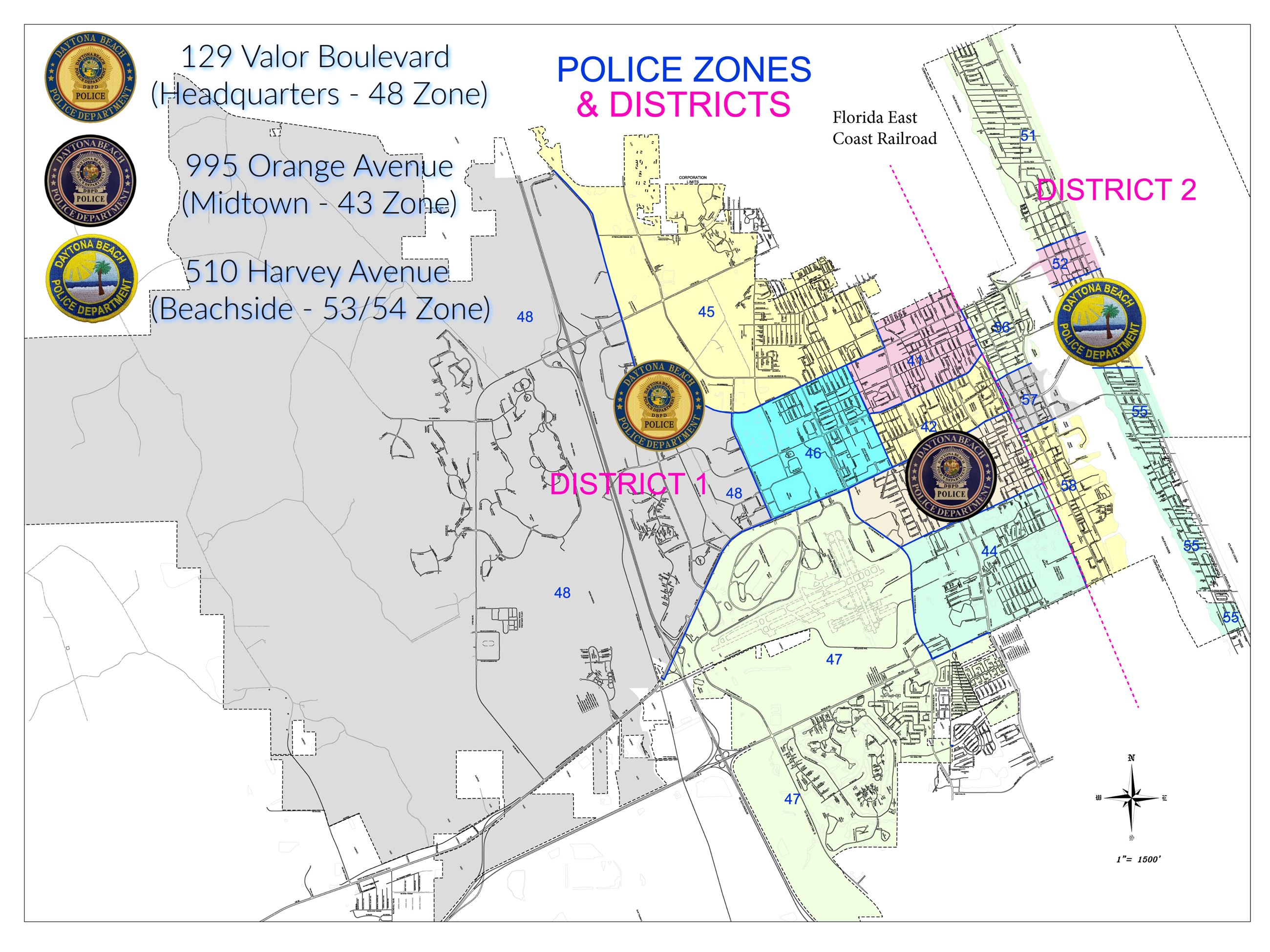 Police District and Zone Map (Website)